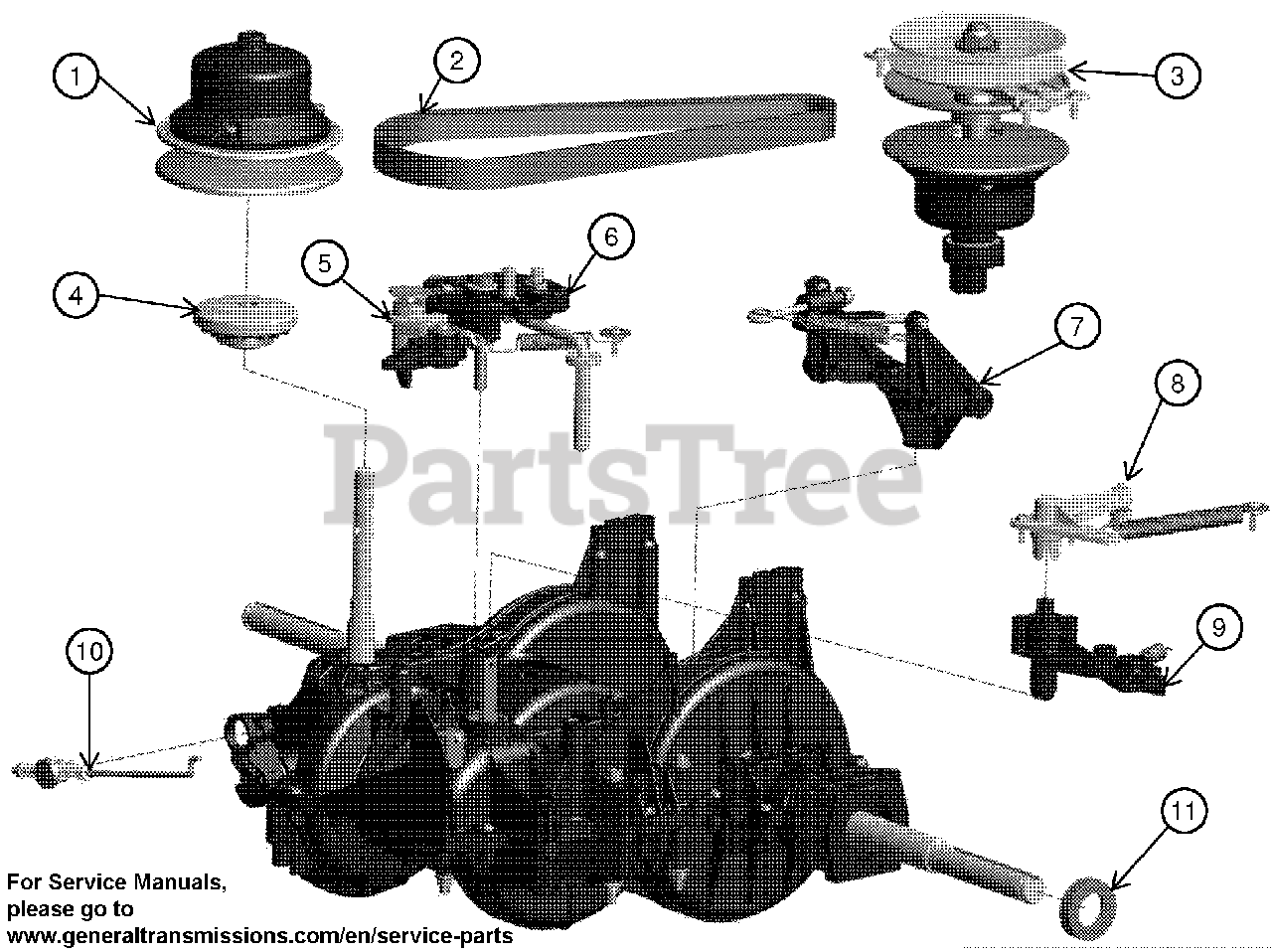 Ariens RS800-SD-P (21549005) - Ariens General Transmission Transmission -  584973901 Parts Lookup with Diagrams | PartsTreePartsTree