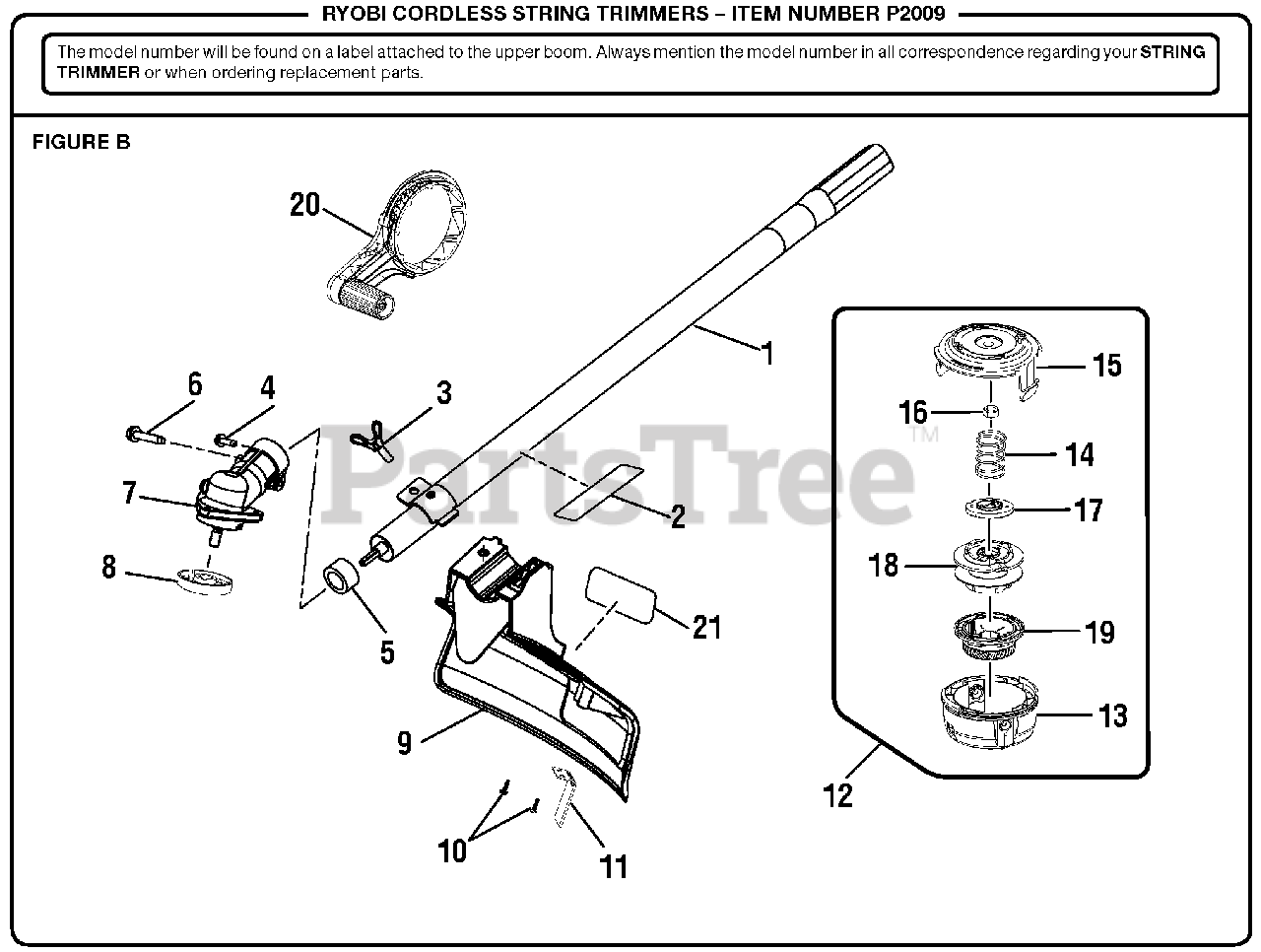 311291004 Motor Assembly Off A Ryobi P2009 Cordless String Trimmer
