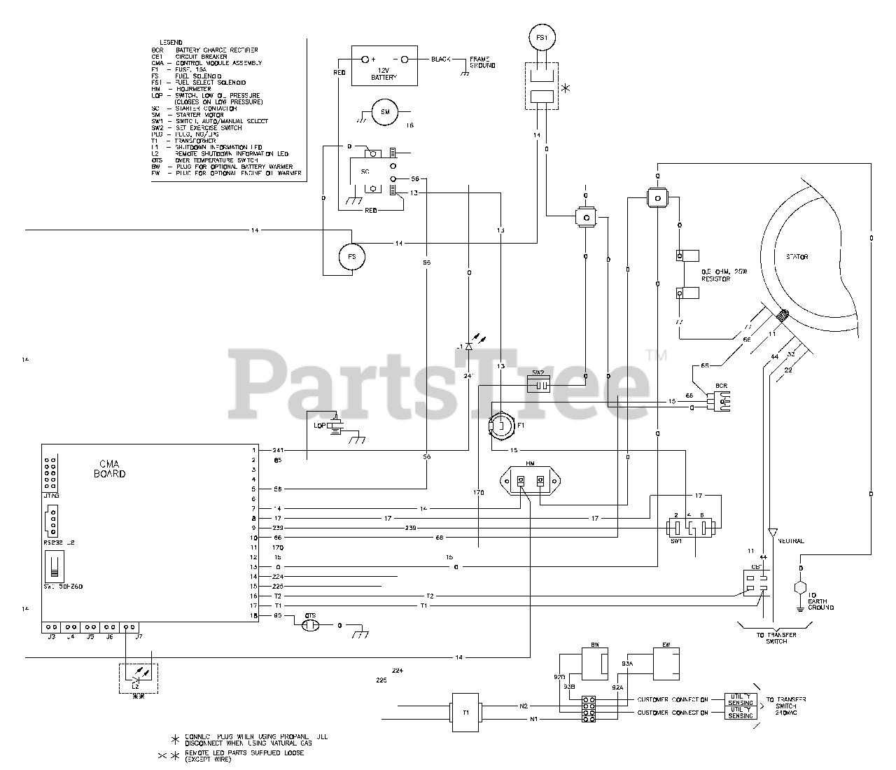 Briggs Stratton 01815 0 Briggs Stratton 12kw Home Standby Generator Wiring Diagram Standby Generator 192391wd Parts Lookup With Diagrams Partstree