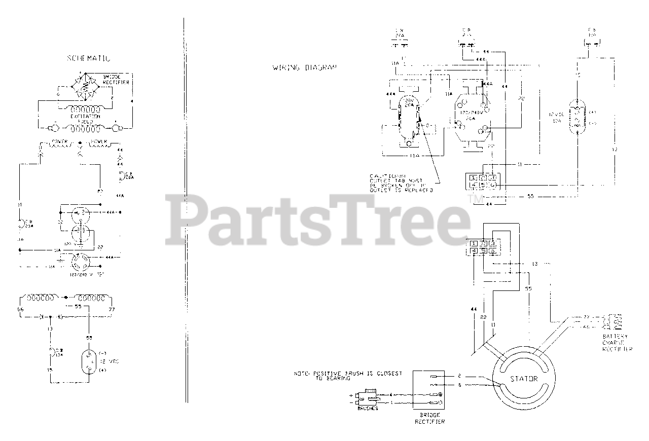 Generac 3W796A (9579-0) - Generac 5,000 Watt Portable Generator Electrical  Schematic And Wiring Diagram 3W795A & 3W796A Parts Lookup with Diagrams |  PartsTree | Generac 5000 Generator Wiring Diagram |  | PartsTree