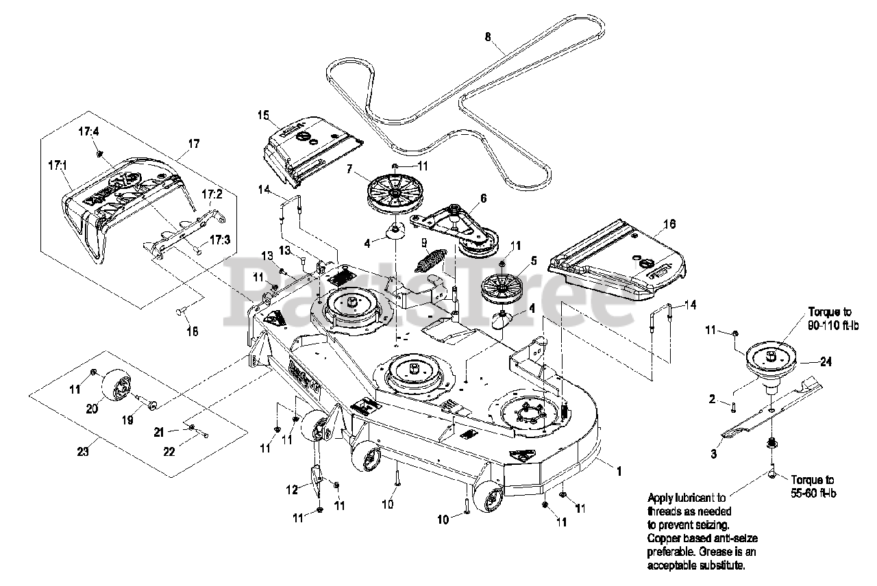 Exmark Parts On The 60 U0026quot  Deck Group Diagram For Lzas25kc604
