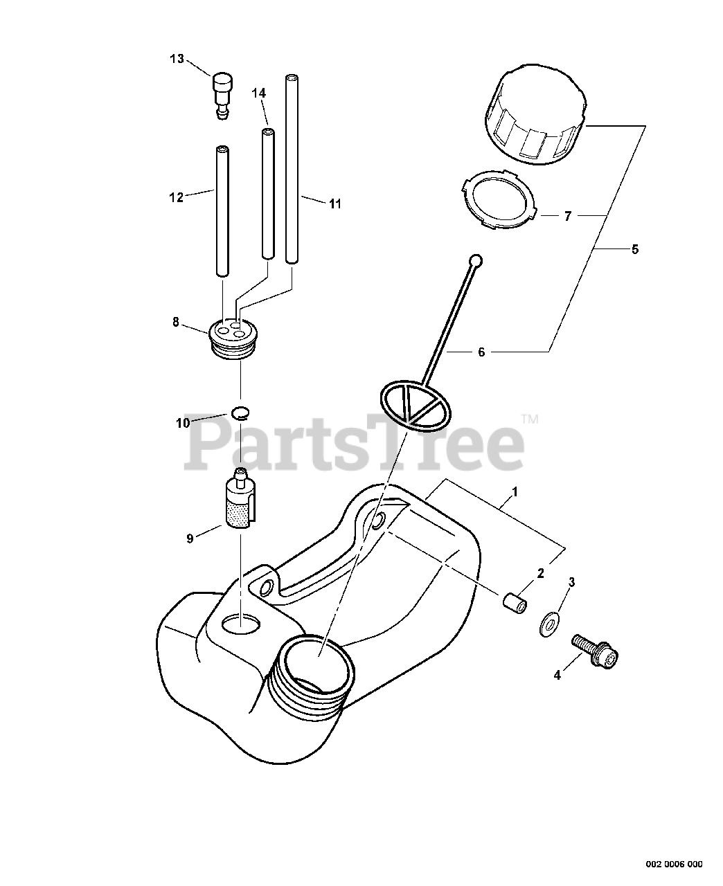Echo GT-200R - Echo String Trimmer (SN: 05001001 - 05999999) Fuel System  Parts Lookup with Diagrams   PartsTreePartsTree