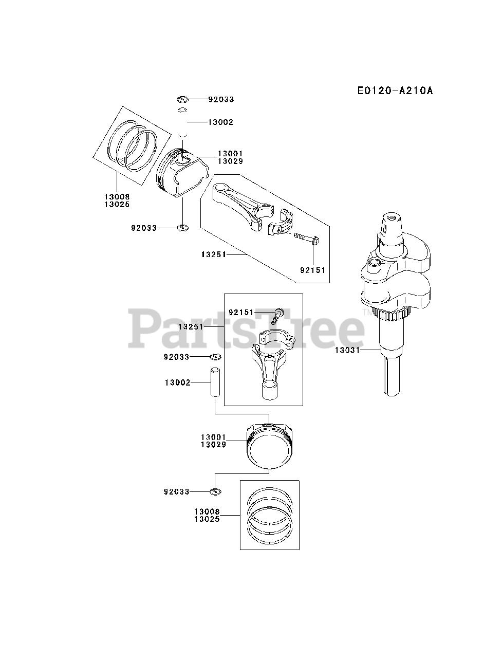 Kawasaki FH680V-AS24 - Kawasaki Engine PISTON/CRANKSHAFT ... on kawasaki fh601v parts, kawasaki prairie 300 carb diagram, kawasaki fc150v parts diagram, mahindra parts diagrams, mtd parts diagrams, kawasaki fb460v parts list, kawasaki ga 2300a generator parts, kawasaki oem parts diagram, bush hog parts diagrams, long tractor engine parts diagrams, kawasaki fh580v parts, kawasaki ga1000a generator parts, kawasaki fh680v parts electric clutch, kawasaki fc420v parts diagram, kawasaki replacement engines, caterpillar engine parts diagrams, kawasaki mule parts diagram, small four-stroke engine diagrams, exmark parts diagrams, kawasaki 250 parts diagram,