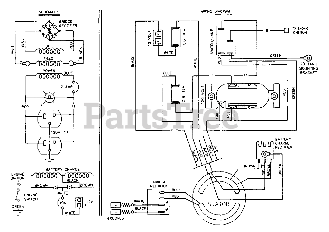Generac A1400 (8967-0) - Generac 1,350 Watt Portable Generator Electrical  Schematic & Wiring Diagram (10/95) Parts Lookup with Diagrams | PartsTreePartsTree