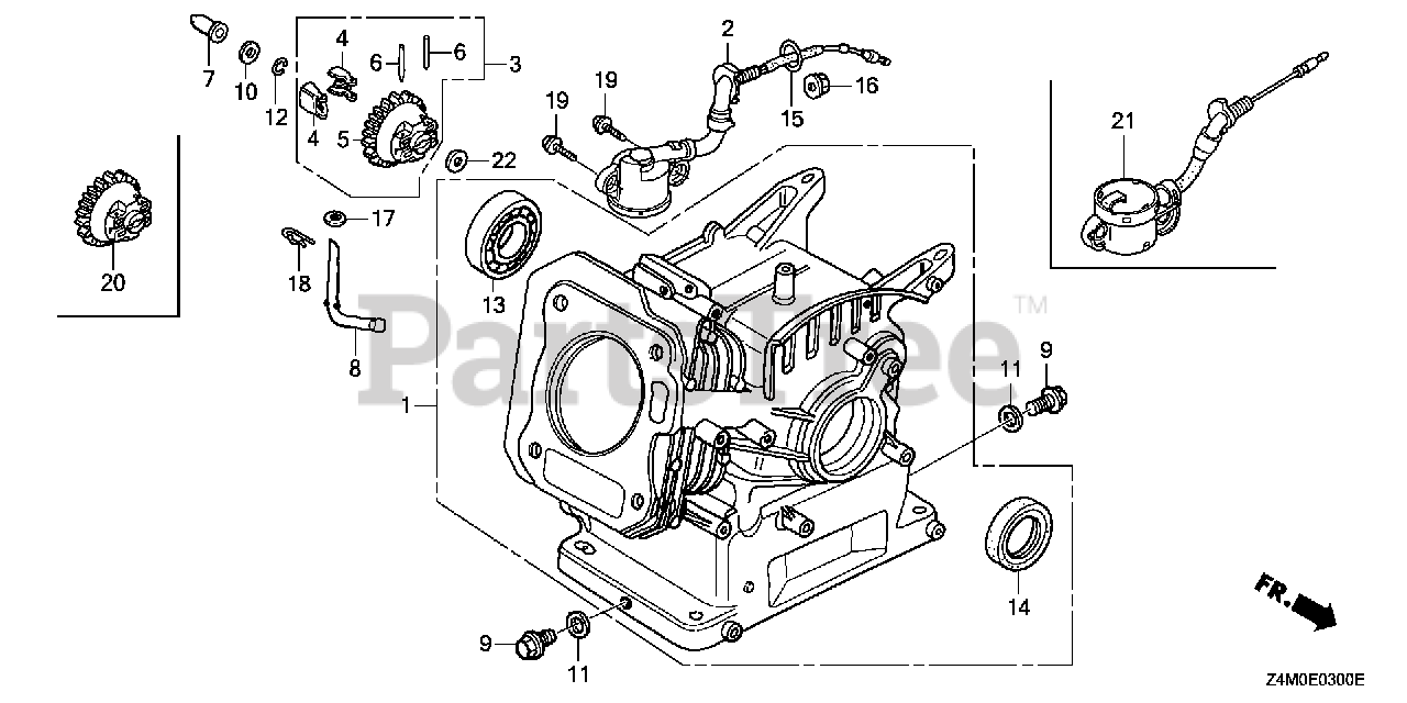 Honda GX160 UT2 SWX2 (GCBPT) - Honda Engine, Made in Thailand (SN:  GCBPT-1000001 - GCBPT-9999999) CYLINDER BARREL Parts Lookup with Diagrams |  PartsTreePartsTree