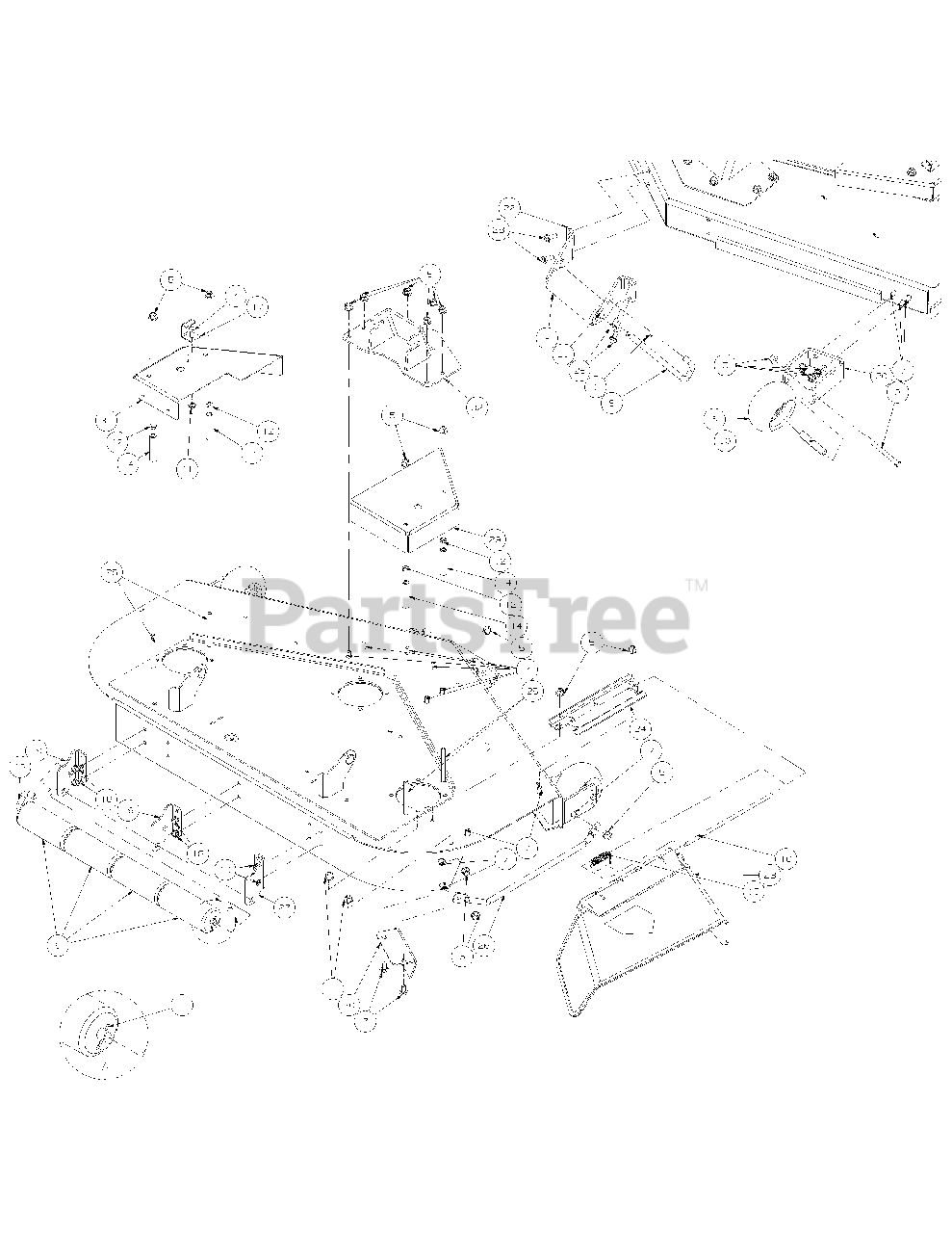 Cub Cadet Parts On The Fabricated Cutter Deck Diagram For