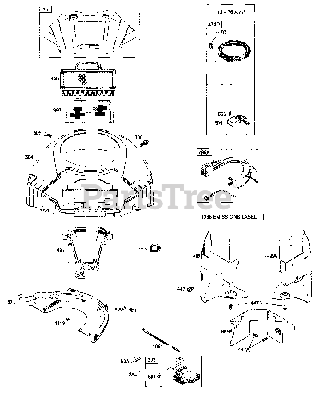 Cub Cadet Z Force 44 Wiring Diagram from www.partstree.com