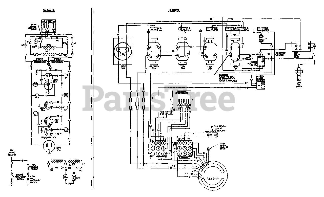 Generac 9099-0 - Generac 6,000 Watt Portable Generator Wiring Diagram &  Schematic Parts Lookup with Diagrams   PartsTreePartsTree