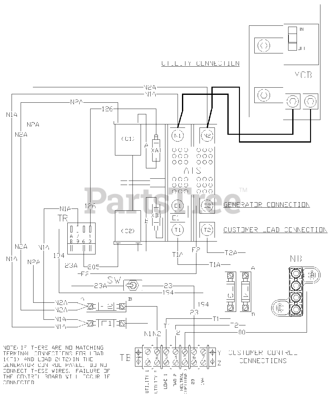 Generac Transfer Switch Wiring Diagram from www.partstree.com