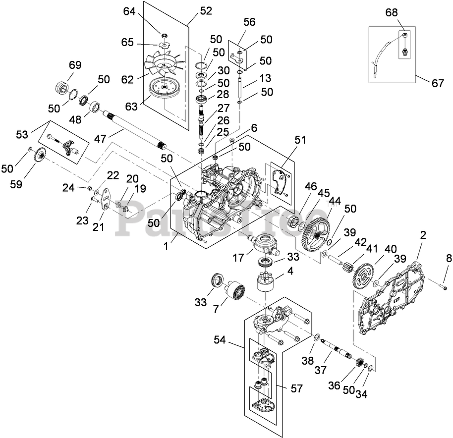 Toro Parts On The Rh Hydro Assembly Diagram For 74360  Z