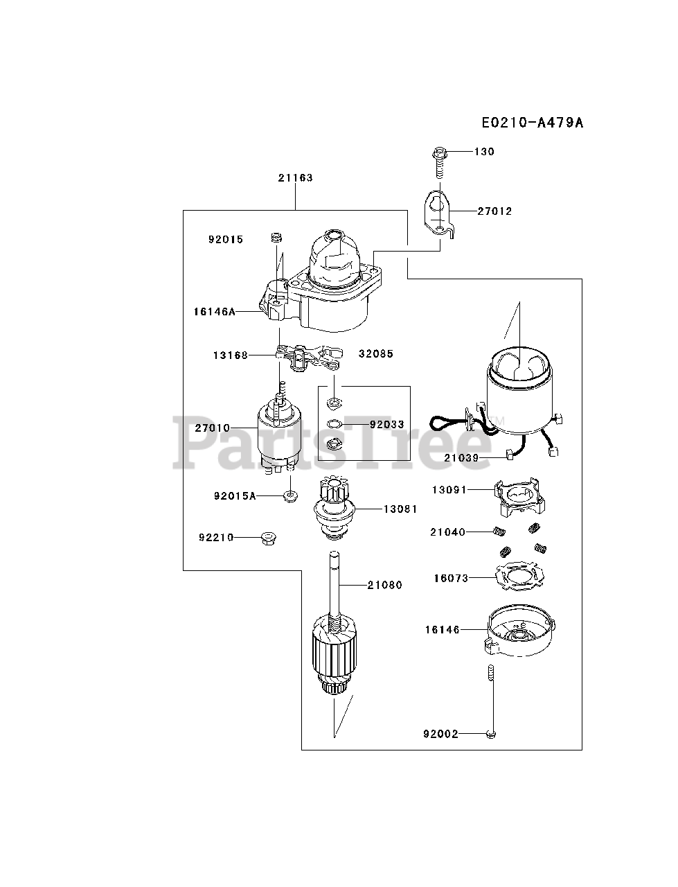 kawasaki fx850v-cs11 - kawasaki engine starter parts lookup with diagrams |  partstree  partstree
