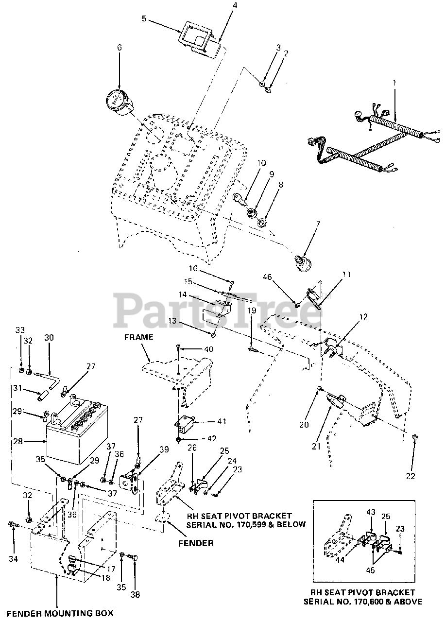 Cub Cadet Lt1045 Ignition Switch Wiring Diagram from www.partstree.com