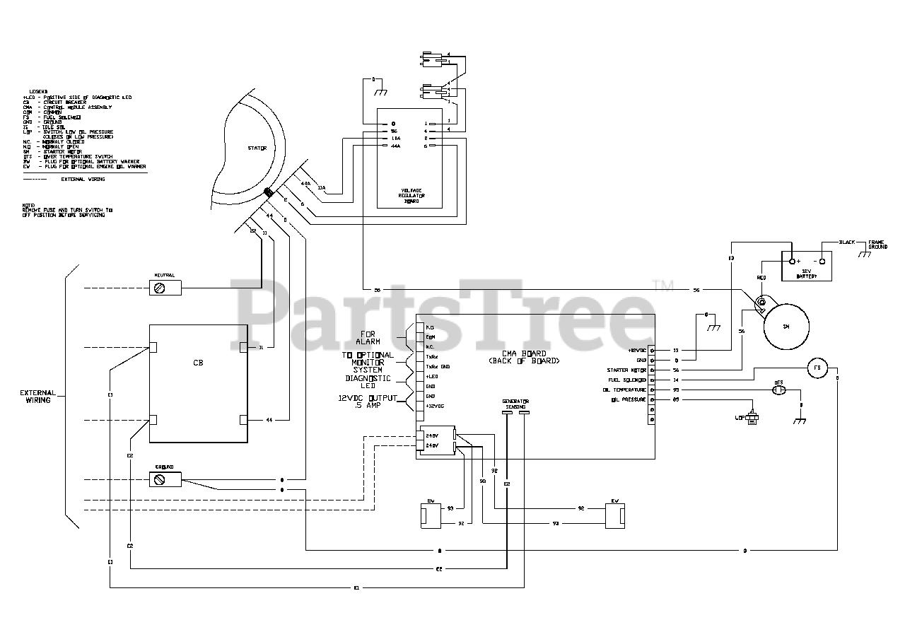 Briggs Stratton 040228 1 Briggs Stratton 18kw Home Standby Generator Wiring Diagram Parts Lookup With Diagrams Partstree