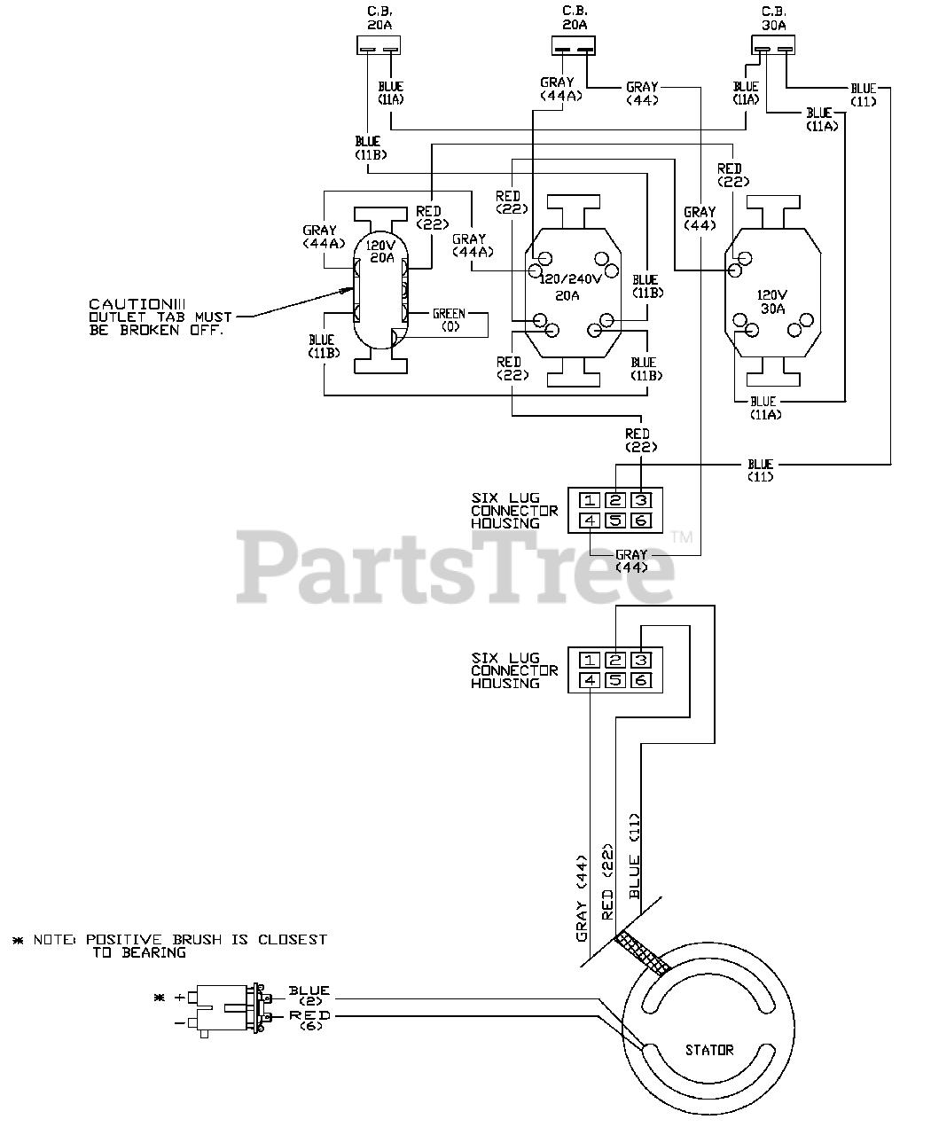Generac 1669-0 - Generac 5,000 Watt Portable Generator Wiring Diagram Parts  Lookup with Diagrams | PartsTree | Generac 5000 Generator Wiring Diagram |  | PartsTree