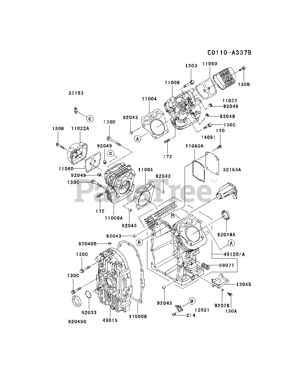 Kawasaki FH680D-AS05 - Kawasaki Engine CYLINDER/CRANKCASE ... on kawasaki fh601v parts, kawasaki prairie 300 carb diagram, kawasaki fc150v parts diagram, mahindra parts diagrams, mtd parts diagrams, kawasaki fb460v parts list, kawasaki ga 2300a generator parts, kawasaki oem parts diagram, bush hog parts diagrams, long tractor engine parts diagrams, kawasaki fh580v parts, kawasaki ga1000a generator parts, kawasaki fh680v parts electric clutch, kawasaki fc420v parts diagram, kawasaki replacement engines, caterpillar engine parts diagrams, kawasaki mule parts diagram, small four-stroke engine diagrams, exmark parts diagrams, kawasaki 250 parts diagram,