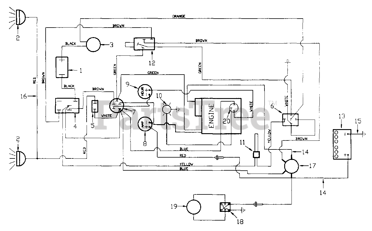 White Outdoor FR-1800 (132-013-190) - White Outdoor Front-Mount Riding  Mower (1992) Wiring Diagram (Briggs & Stratton Engine) Parts Lookup with  Diagrams   PartsTree   White Outdoor Wiring Diagram      PartsTree