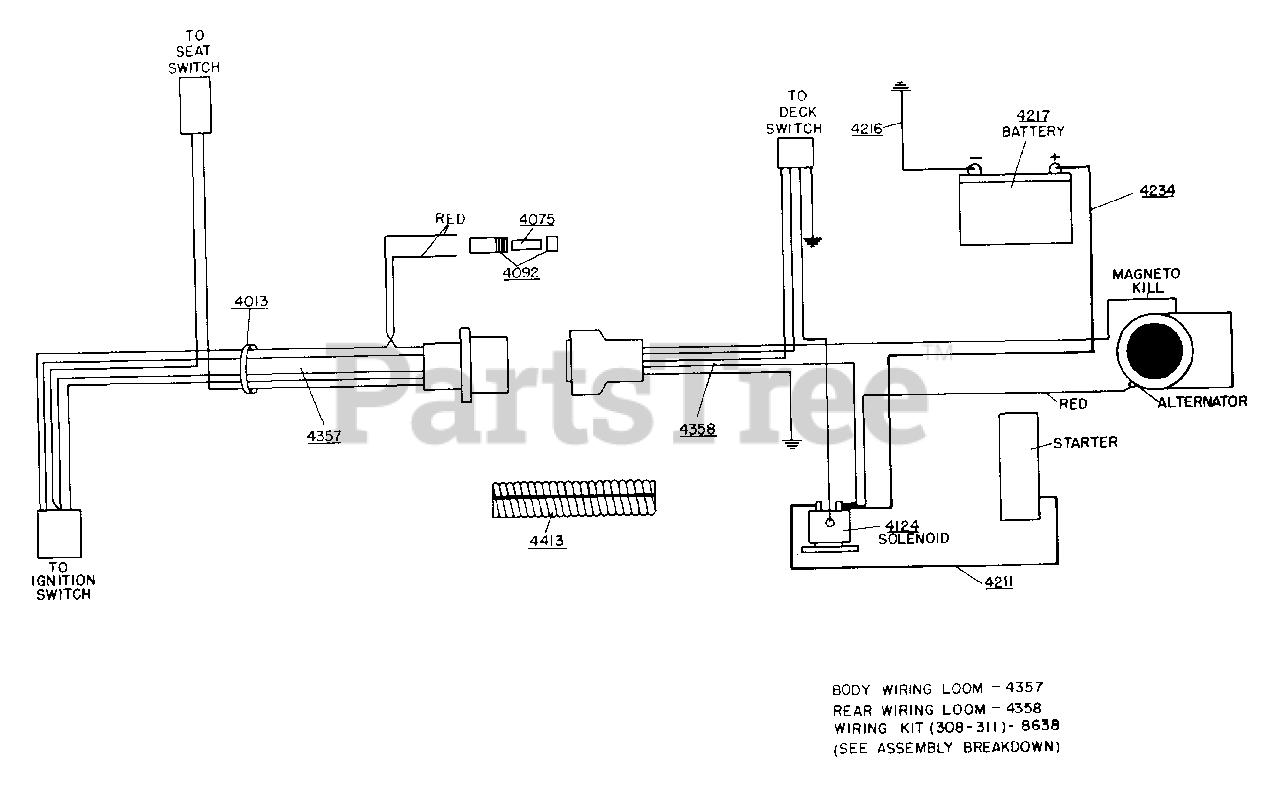 Dixon ZTR 311 - Dixon Zero-Turn Mower (1987) WIRING ASSEMBLY Parts Lookup  with Diagrams | PartsTreePartsTree