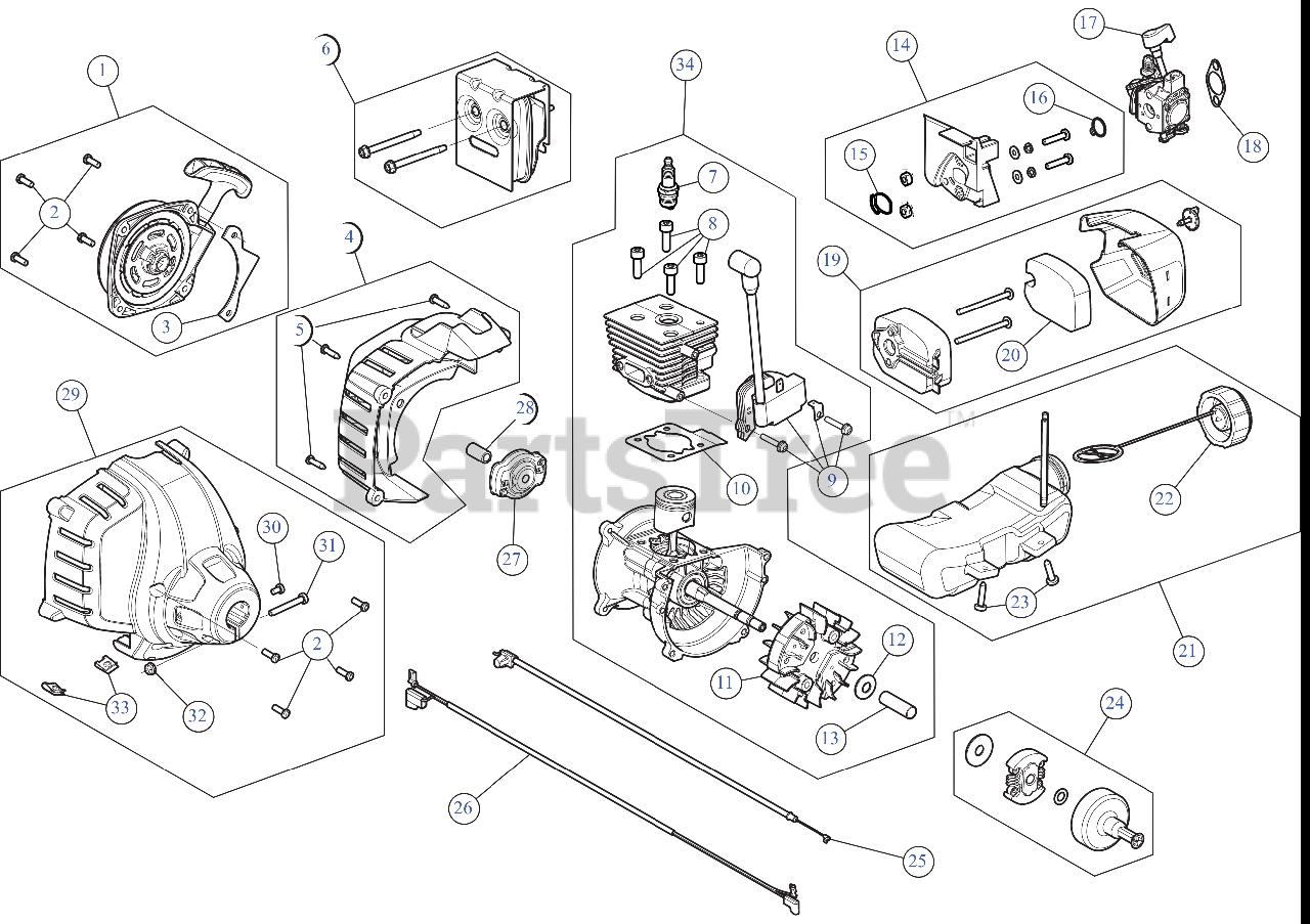 [DIAGRAM_38YU]  Craftsman CMXGTAMD27SC (41AD27SC793) - Craftsman String Trimmer Engine  Assembly Parts Lookup with Diagrams | PartsTree | Trimmer Engine Diagram |  | PartsTree