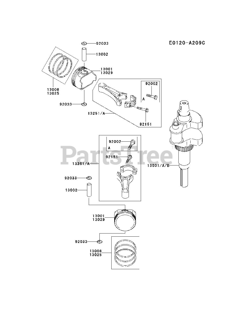 Kawasaki FH601V-BS14 - Kawasaki Engine PISTON/CRANKSHAFT ... on kawasaki fh601v parts, kawasaki prairie 300 carb diagram, kawasaki fc150v parts diagram, mahindra parts diagrams, mtd parts diagrams, kawasaki fb460v parts list, kawasaki ga 2300a generator parts, kawasaki oem parts diagram, bush hog parts diagrams, long tractor engine parts diagrams, kawasaki fh580v parts, kawasaki ga1000a generator parts, kawasaki fh680v parts electric clutch, kawasaki fc420v parts diagram, kawasaki replacement engines, caterpillar engine parts diagrams, kawasaki mule parts diagram, small four-stroke engine diagrams, exmark parts diagrams, kawasaki 250 parts diagram,