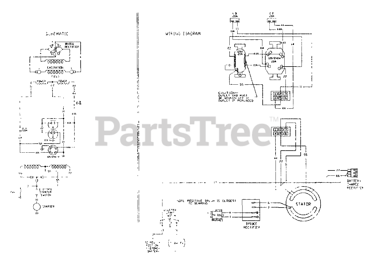 Generac 9435-0 - Generac Dayton 4,000 Watt Portable Generator Wiring Diagram  & Schematic Parts Lookup with Diagrams | PartsTreePartsTree