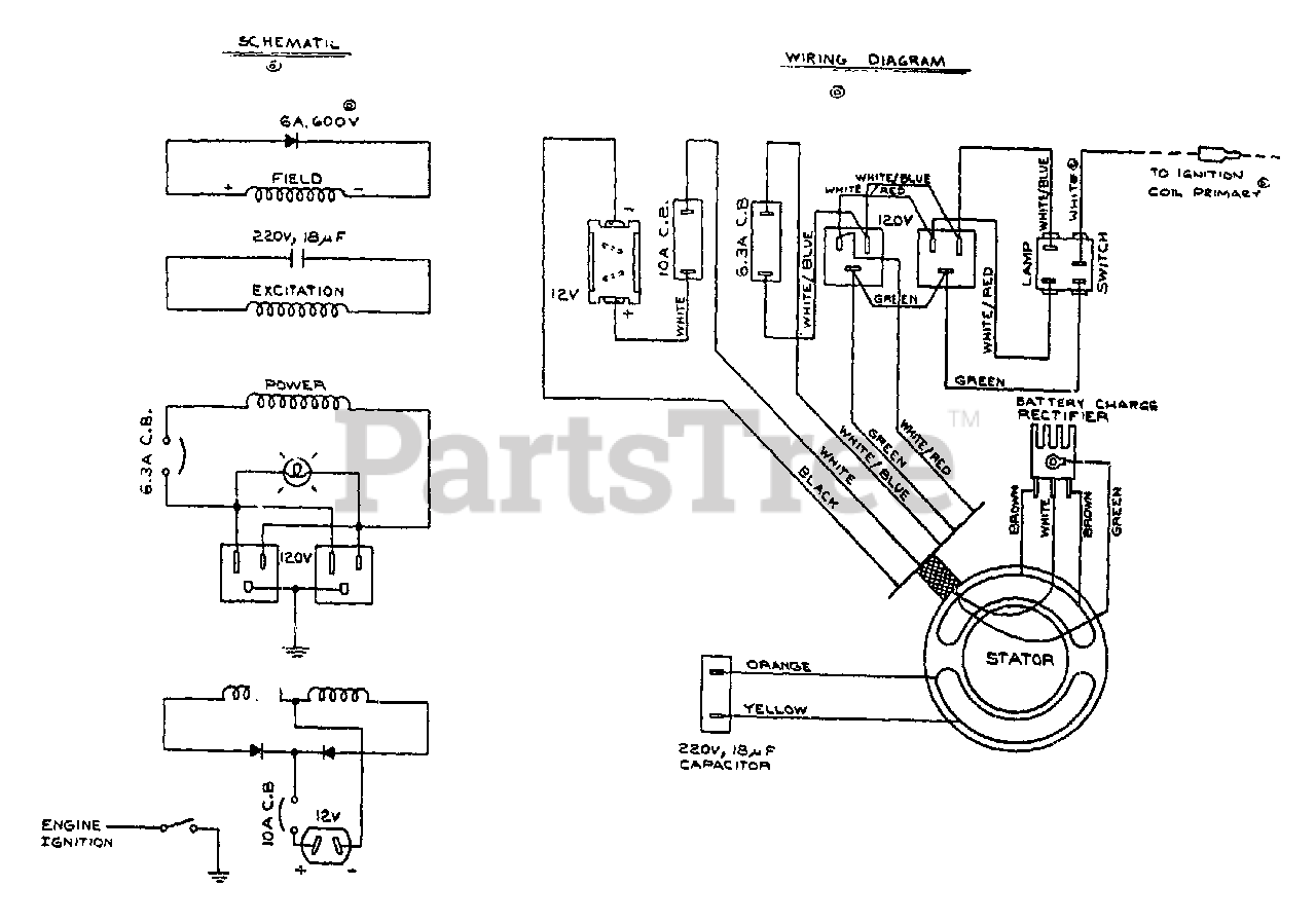 Generac G1000 (8834-0) - Generac 750 Watt Portable Generator Electrical  Schematic/Wiring Diagram No. 67224 Parts Lookup with Diagrams | PartsTreePartsTree