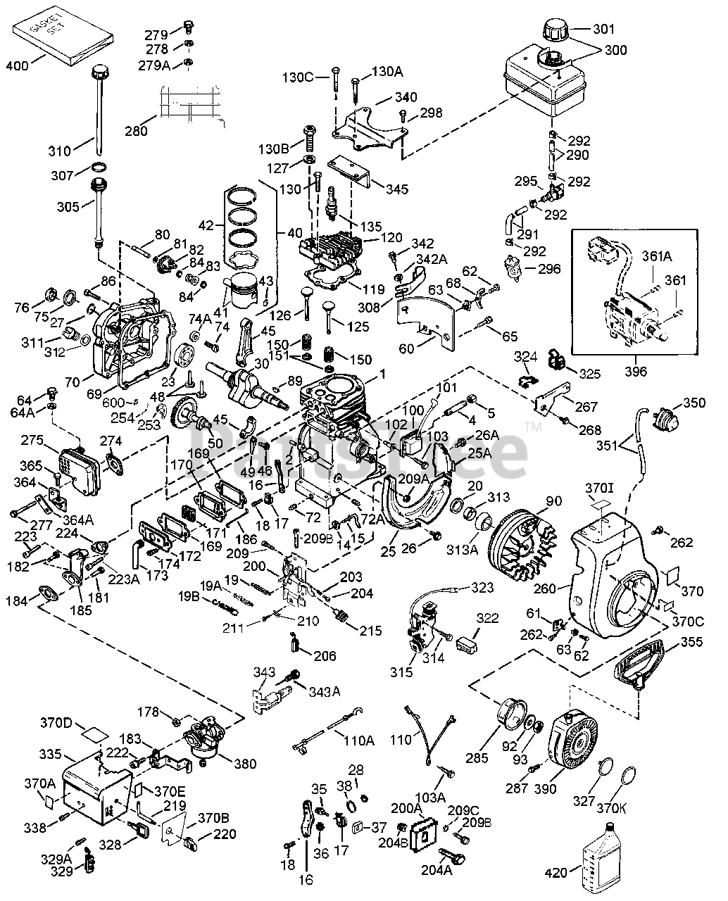 Tecumseh HSSK50-67388S - Tecumseh Engine Engine Parts List Parts Lookup  with Diagrams | PartsTreePartsTree