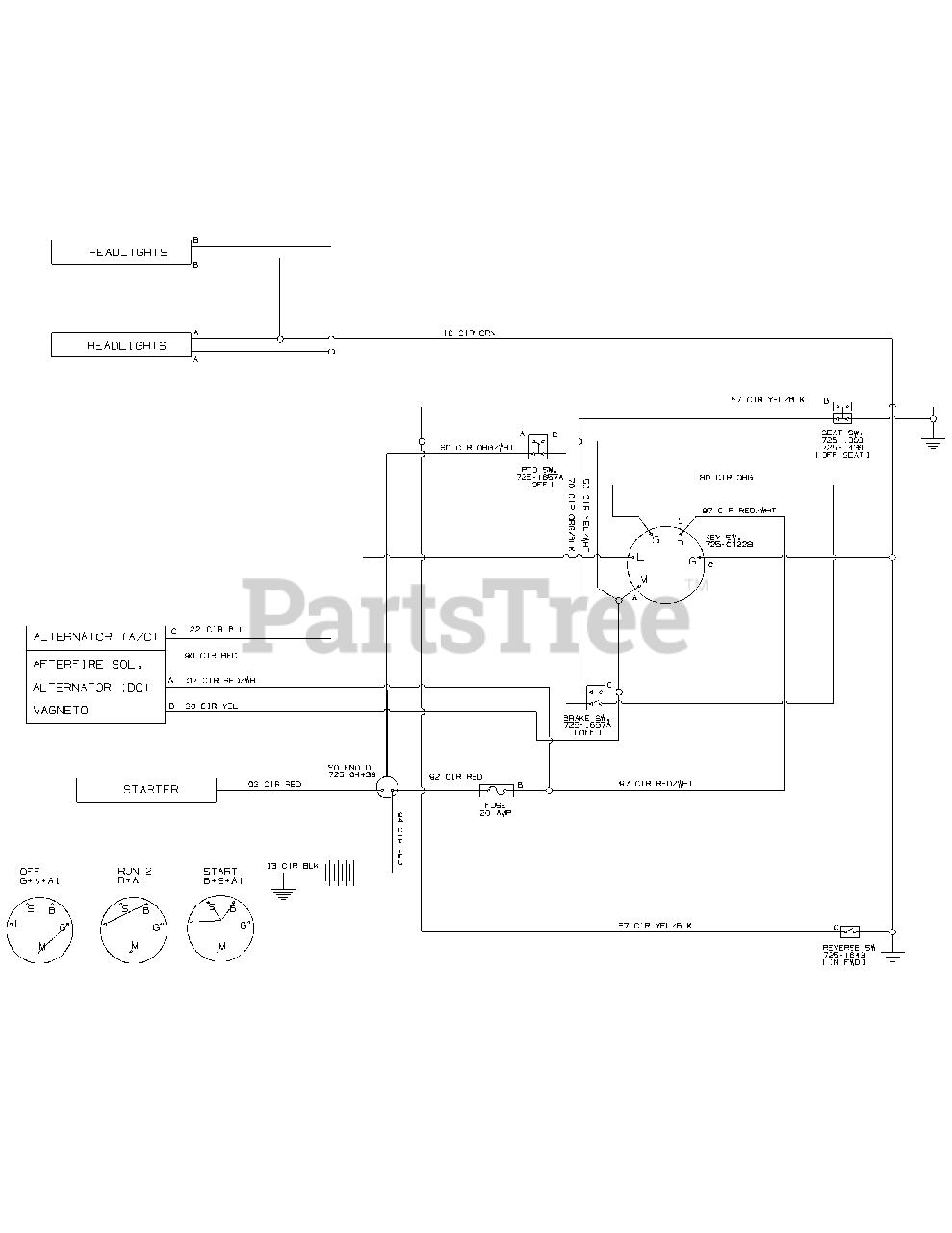 Bolens 13WC762F065 - Bolens Lawn Tractor (2011) Wiring Diagram - 925-04082  Parts Lookup with Diagrams | PartsTreePartsTree