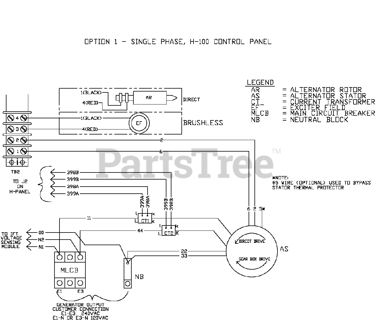 Standby Generator Wiring Schematic