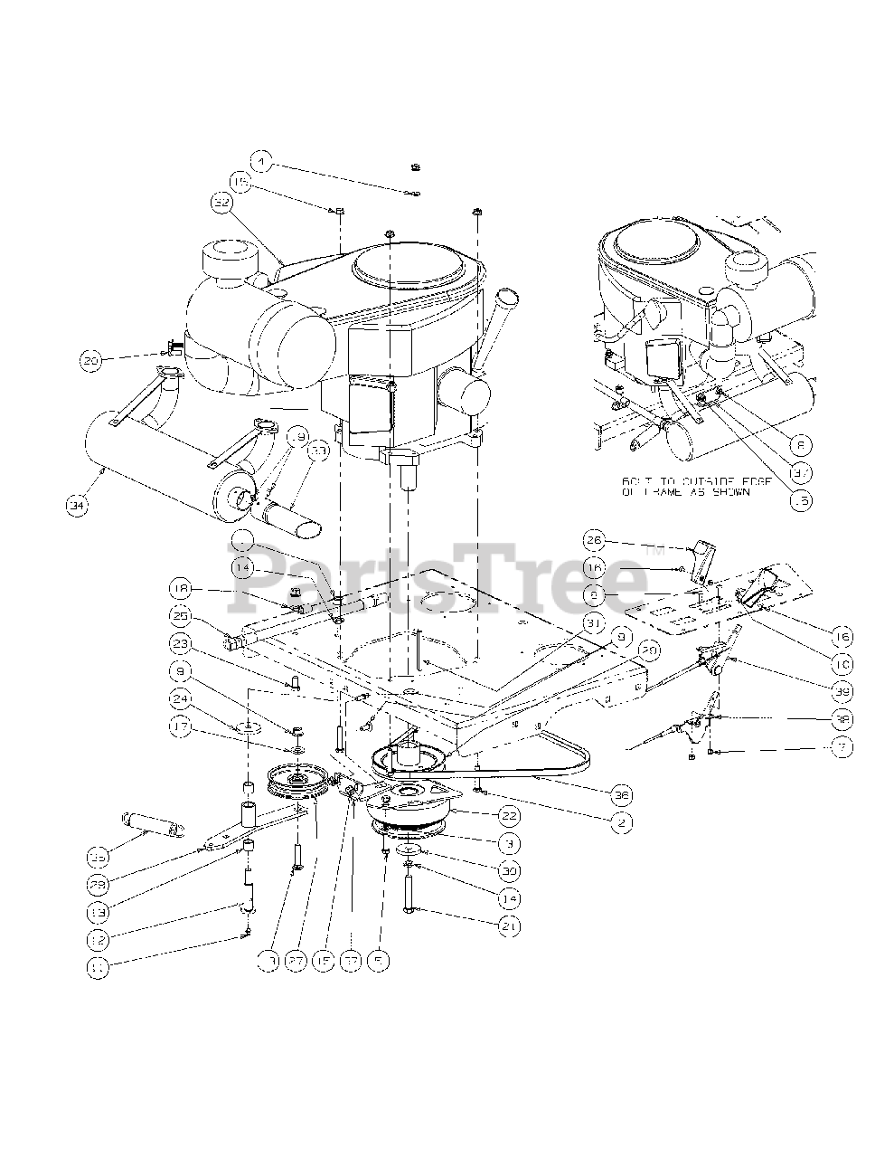 Cub Cadet Parts on the Engine Assembly Diagram for M54-KW ...