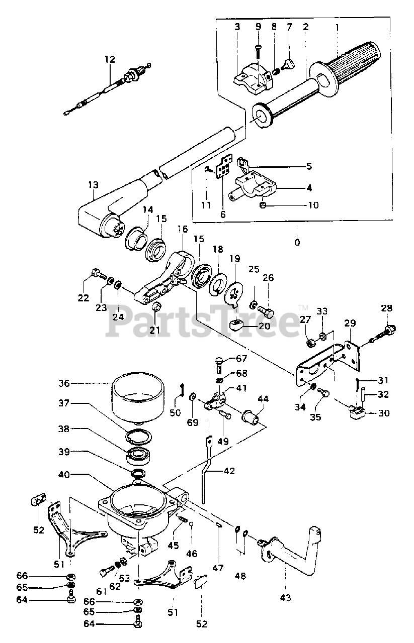 [WQZT_9871]  Tanaka TOB-550 - Tanaka 5.5HP Outboard Engine Steering Arm & Clutch Case  Parts Lookup with Diagrams   PartsTree   Outboard Engine Diagram Clutch      PartsTree