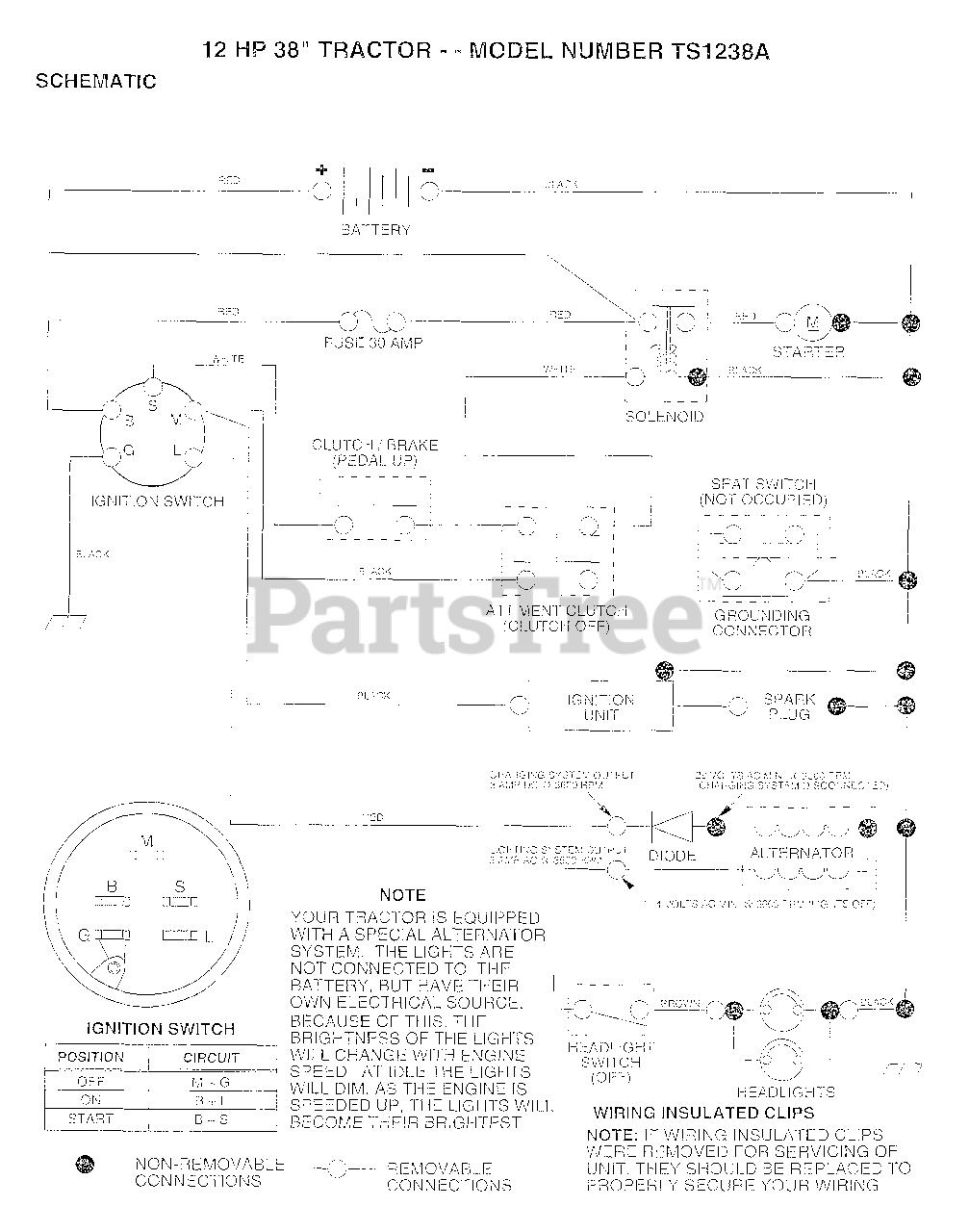 [DIAGRAM_3NM]  Electrolux/AYP TS 1238 A - Electrolux/AYP Lawn Tractor (1993) 12HP 38