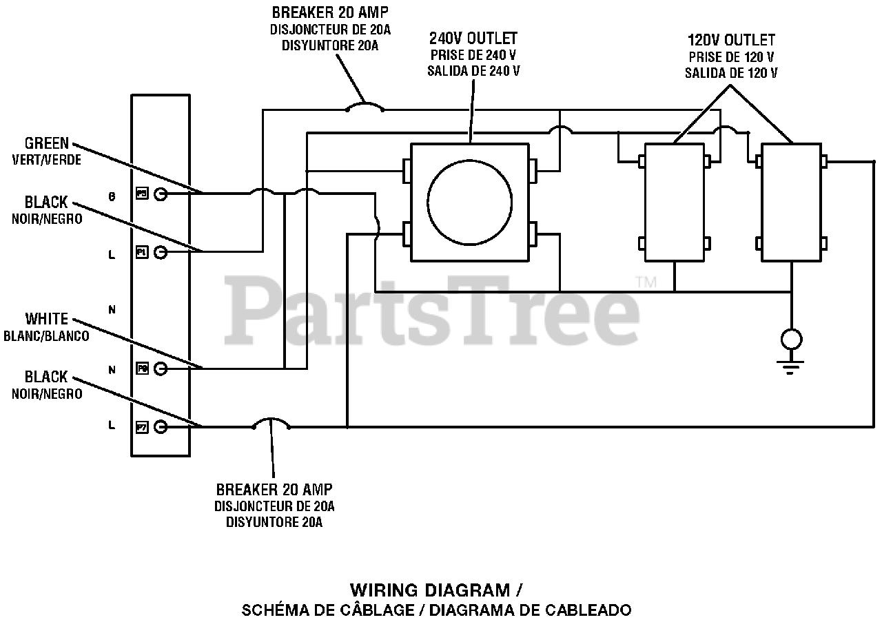 Homelite Ut 905000 P Homelite 5 000 Watt Generator Wiring Diagram Parts Lookup With Diagrams Partstree