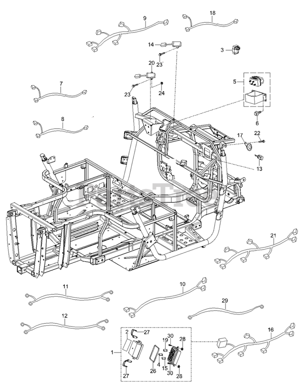 Cub Cadet Challenger MX750 EPS Black (37BYCCPK710) - Cub Cadet 4x4 Utility  Vehicle (2019) Electrical Parts Parts Lookup with Diagrams | PartsTreePartsTree