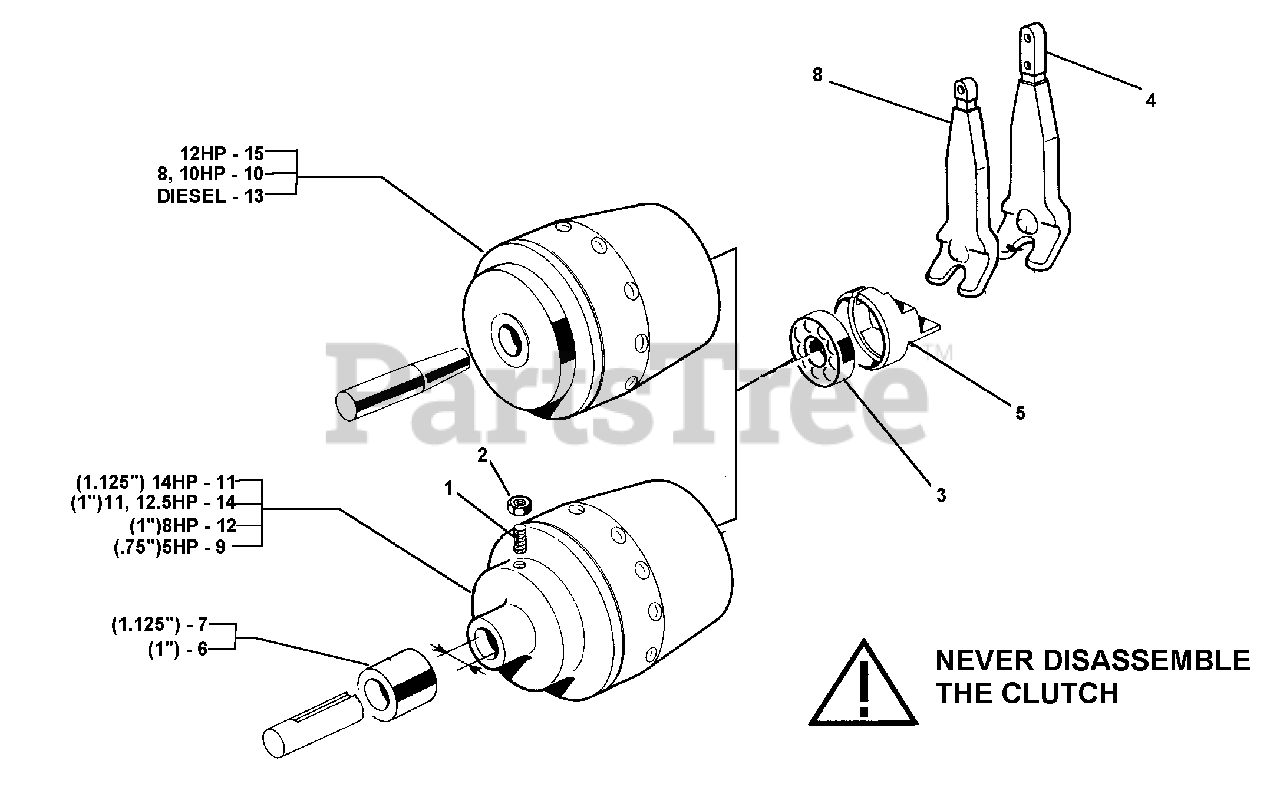 BCS America 715 - BCS America Two-Wheeled Tractor H. D. Cone Clutch Parts  Lookup with Diagrams | PartsTree | Bcs Wiring Diagram |  | PartsTree