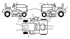 Serrure de contact adaptable pour Husqvarna TS38 96041036600 Tracteur de pelouse