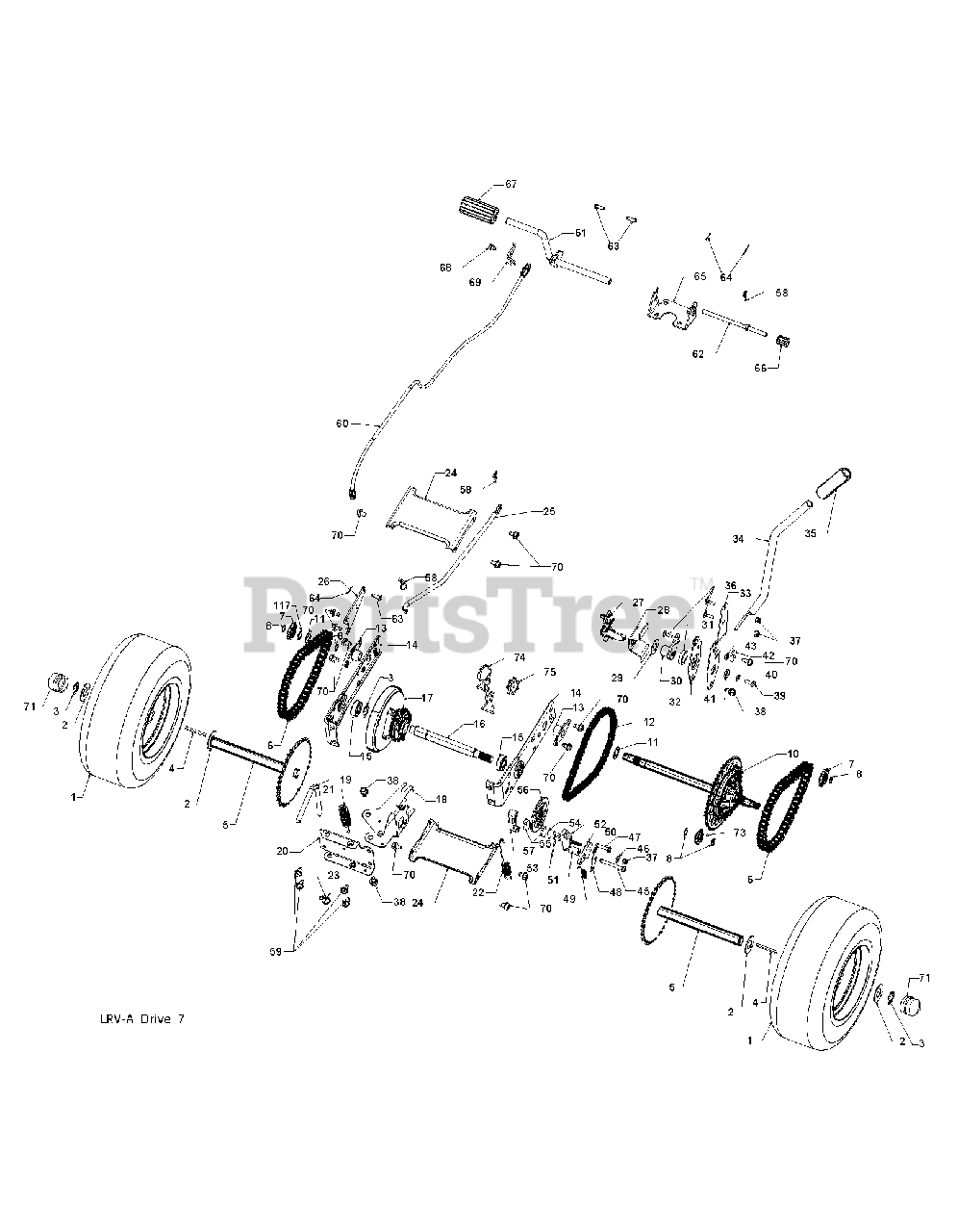 Weed Eater WE 261 (960220007-01) - Weed Eater Lawn Tractor ...