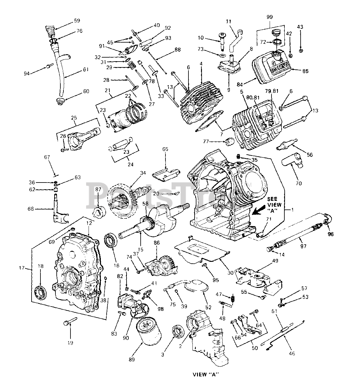 Cub Cadet Parts On The Engine Assembly Diagram For 1440