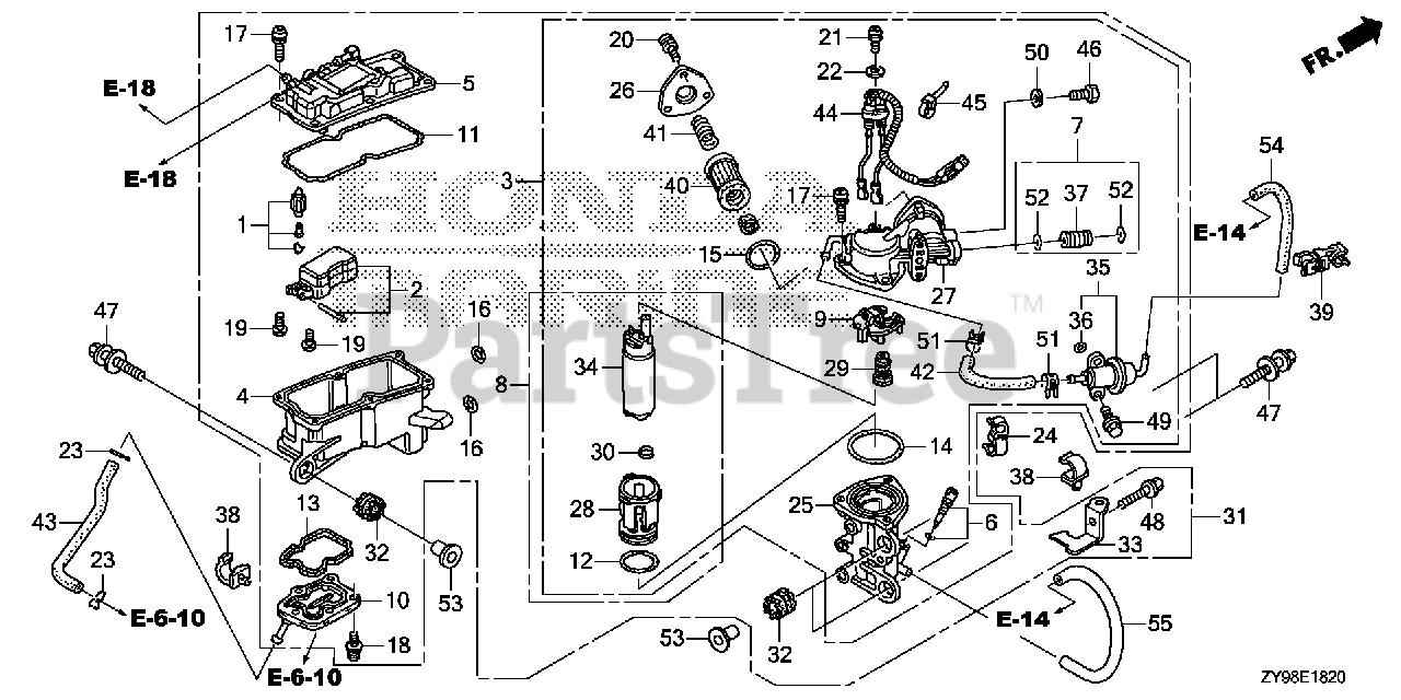 Honda 16071-ZY9-003 O-RING