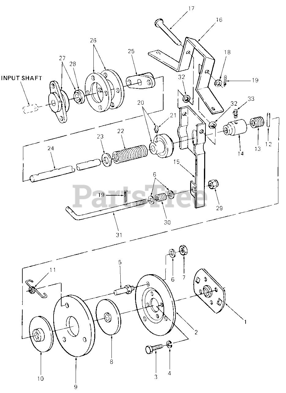 Cub Cadet Parts On The Clutch  U0026 Controls Diagram For 1050