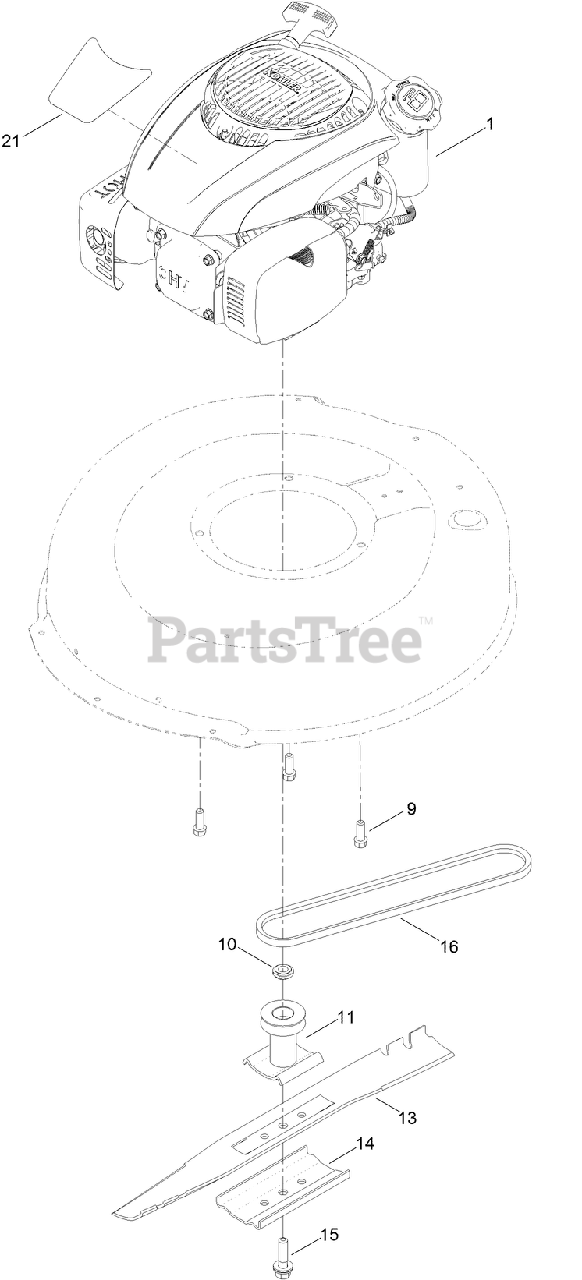 Lawn Boy 10732 Lawn Boy 21 Walk Behind Mower Sn 314200001 314999999 2014 Engine And Blade Assembly Parts Lookup With Diagrams Partstree