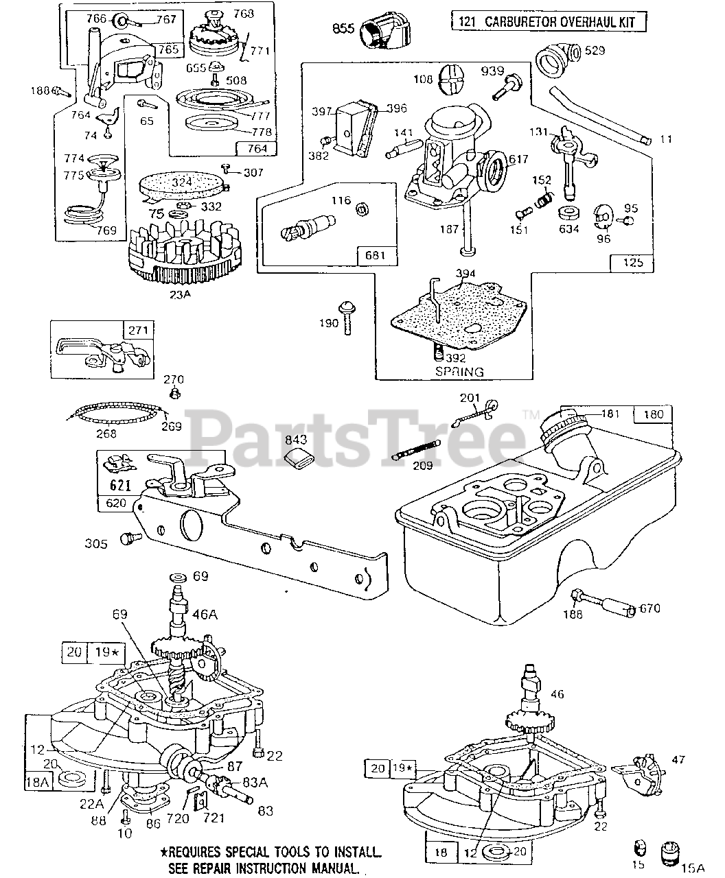 briggs & stratton 92502-3140-02 - briggs & stratton vertical engine  carb,fueltank,sumps,vertpull parts lookup with diagrams | partstree  partstree