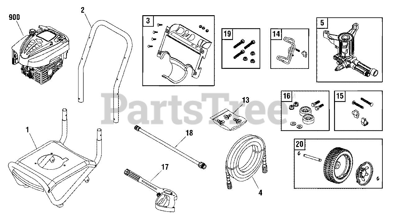 Troy-Bilt 020337-2 - Troy-Bilt 2,550 PSI Pressure Washer ...