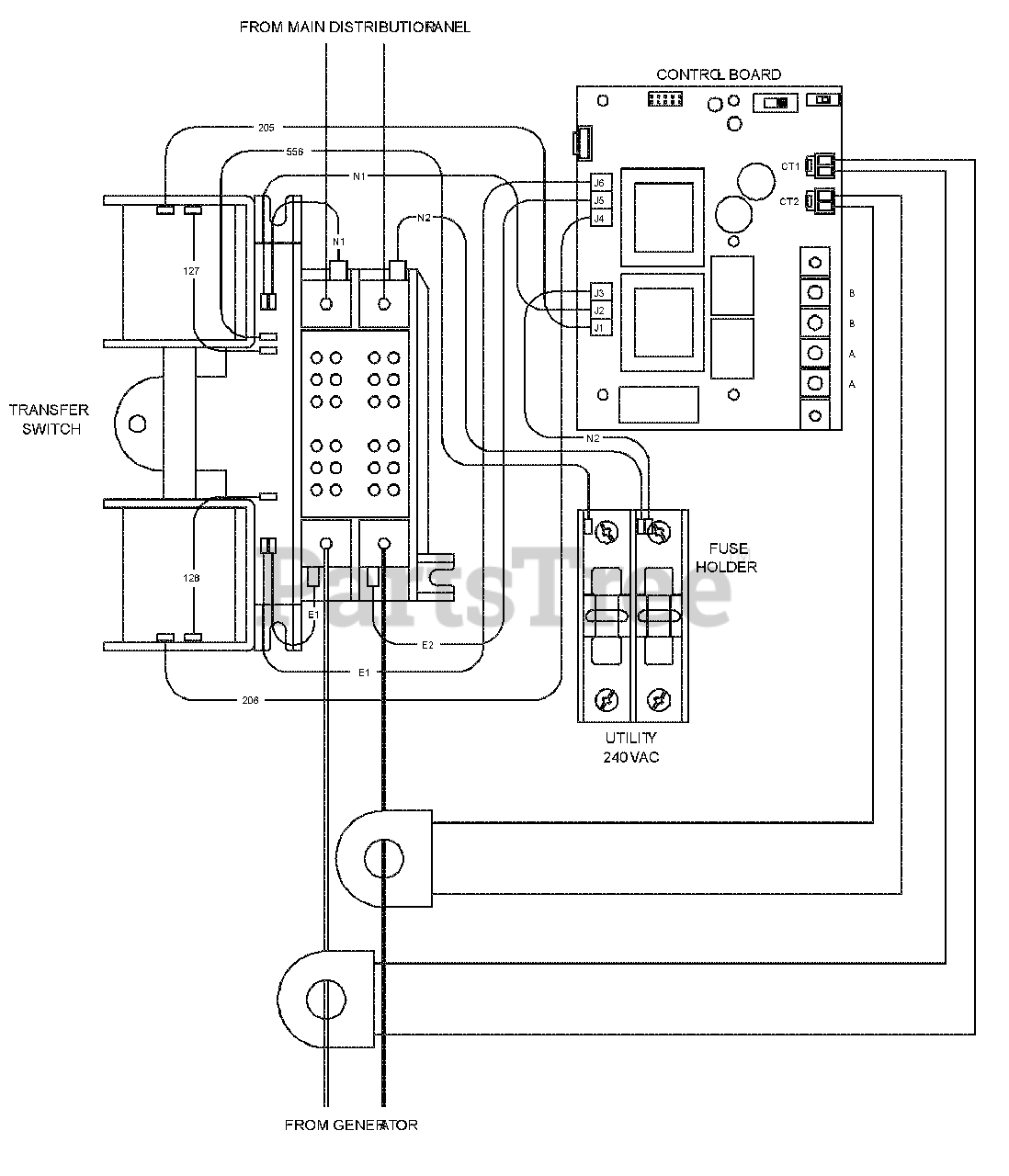 [EQHS_1162]  Briggs & Stratton 040475-00 - Briggs & Stratton 16kW Home Standby Generator  with 100 Amp ATS Wiring Diagram - Transfer Switch (198756WD) Parts Lookup  with Diagrams | PartsTree | Briggs And Stratton Transfer Switch Wiring Diagram |  | PartsTree