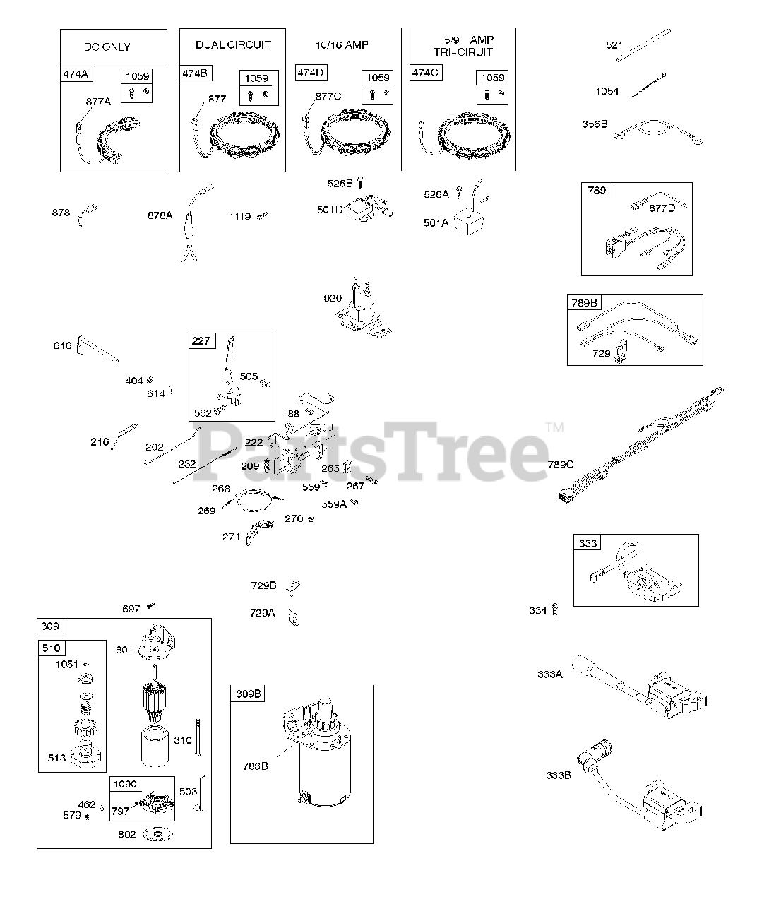 OEM NOS Briggs /& Stratton Wire//Connector-Alternator 393814 10