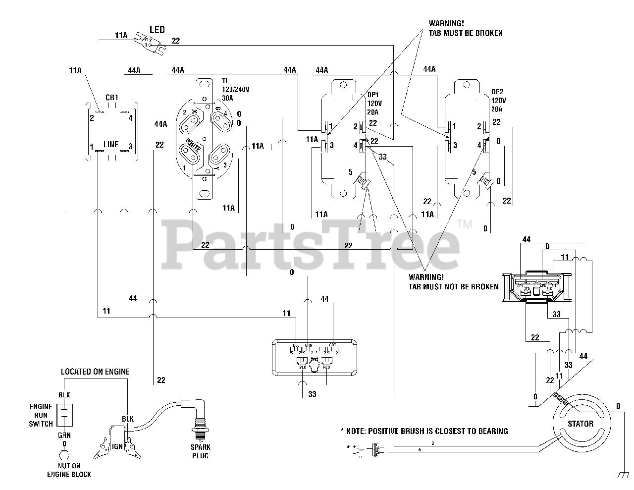 Briggs Stratton 030430 3 Briggs Stratton 5 500 Watt Portable Generator Wiring Diagram 204050wd Parts Lookup With Diagrams Partstree