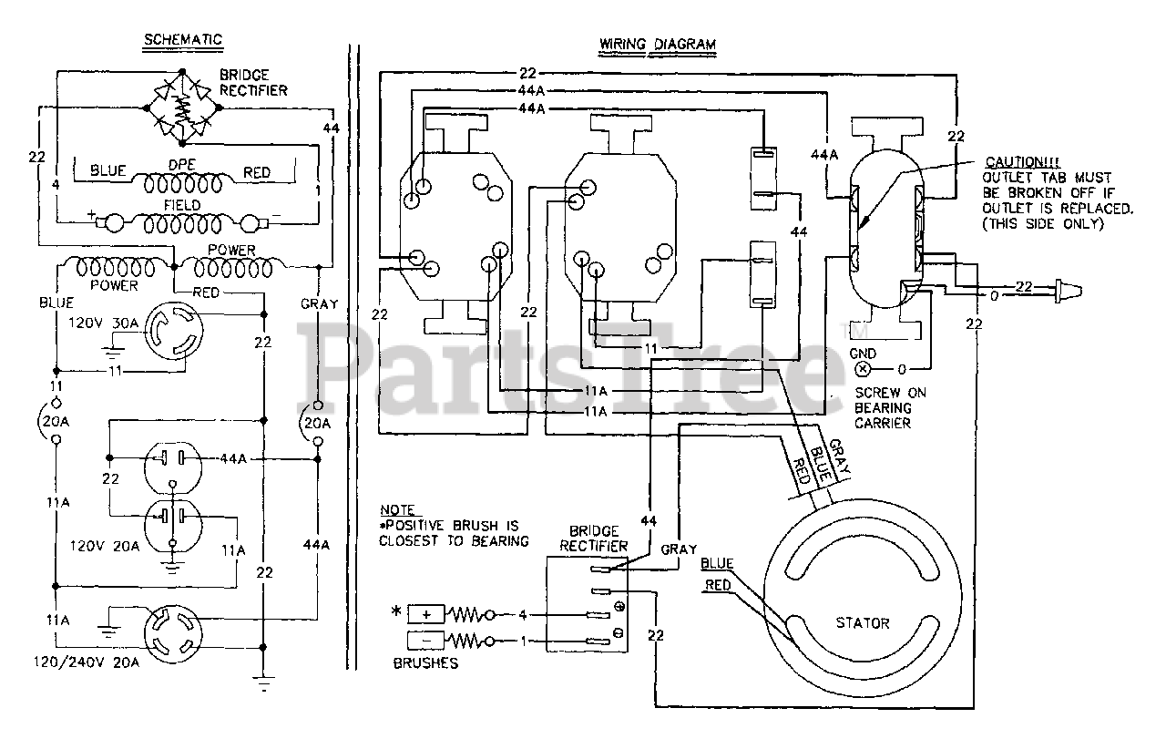 Generac 9091-0 - Generac 3,300 Watt Portable Generator Wiring Diagram &  Schematic Parts Lookup with Diagrams | PartsTreePartsTree