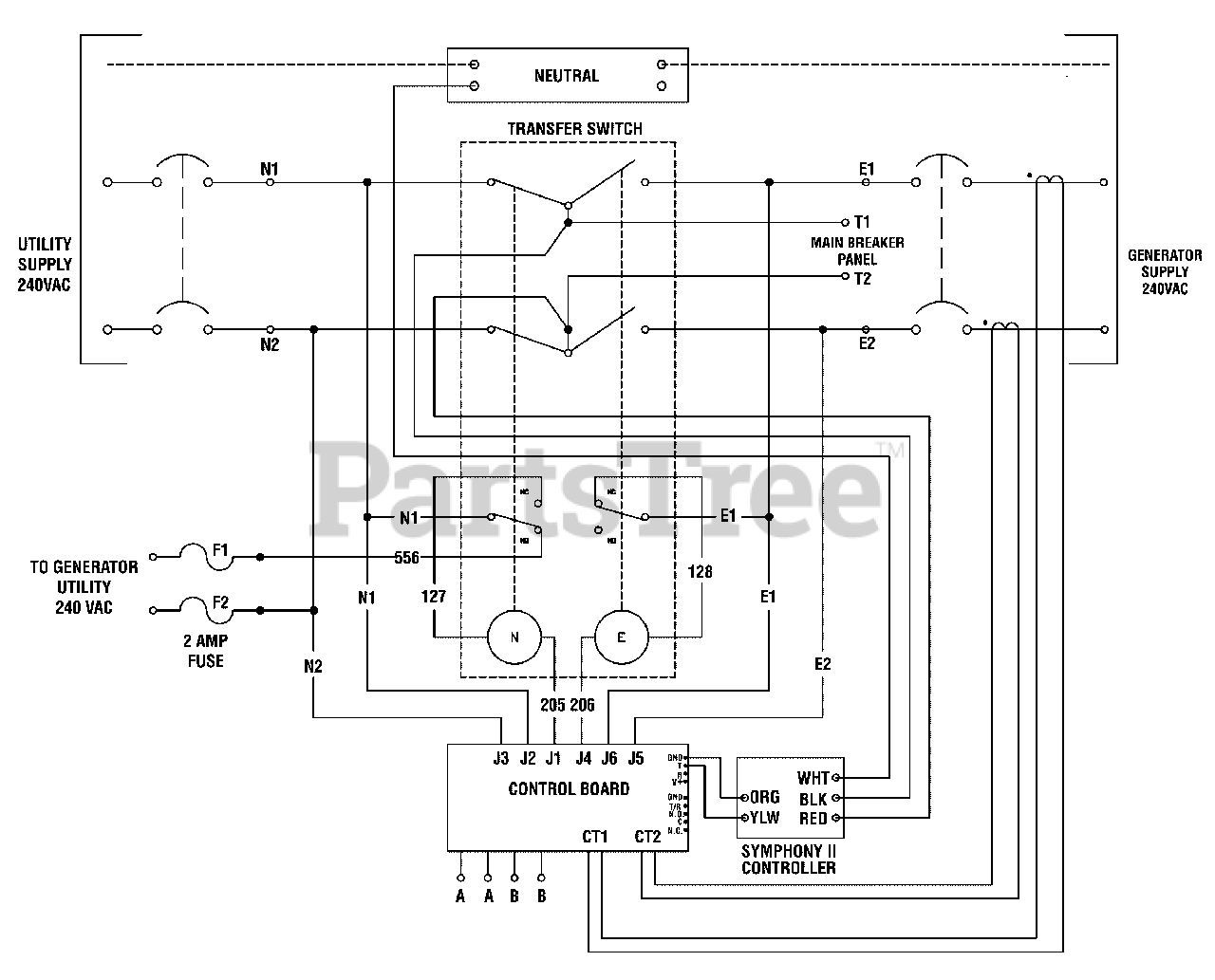 Standby Generator Wiring Diagram from www.partstree.com