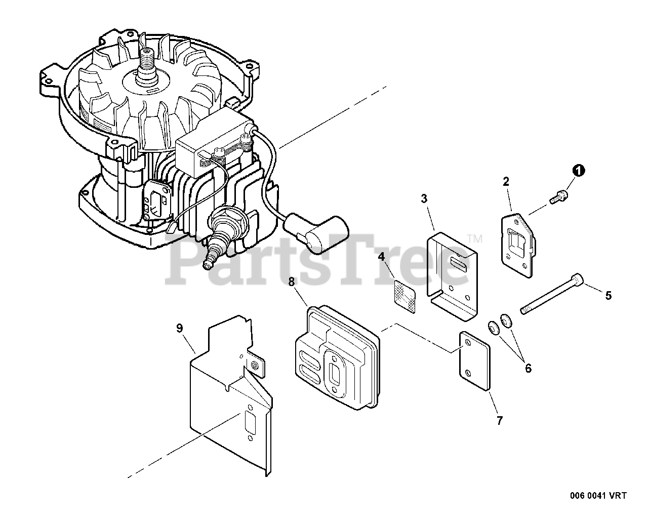 Little Wonder SV-5C/2 - Little Wonder Engine (SN: 10001001 - 10999999)  Exhaust Parts Lookup with Diagrams | PartsTreePartsTree