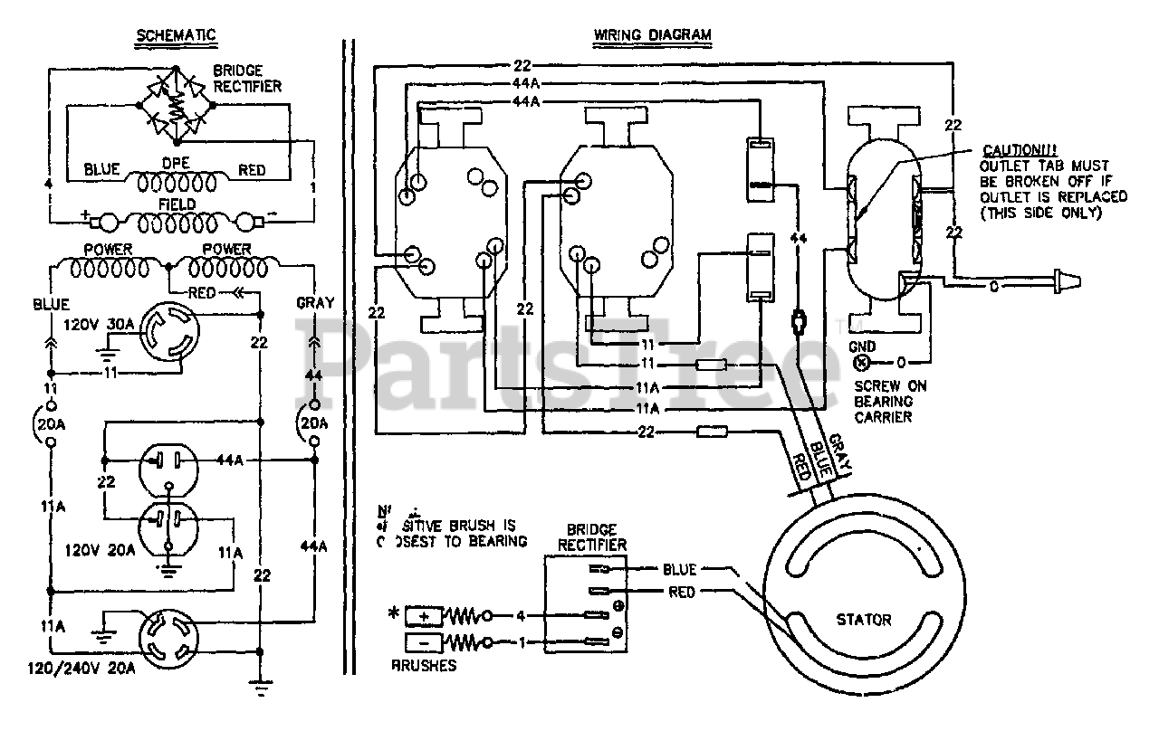 Generac S5002 (8983-5) - Generac 5,000 Watt Portable Generator Electrical  Schematic & Wiring Diagram Parts Lookup with Diagrams | PartsTree | Generac 5000 Generator Wiring Diagram |  | PartsTree