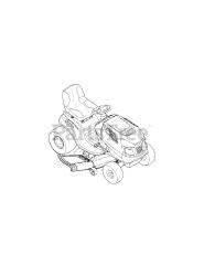 Craftsman 247 288851 (13AL78ST099) - Craftsman Lawn Tractor